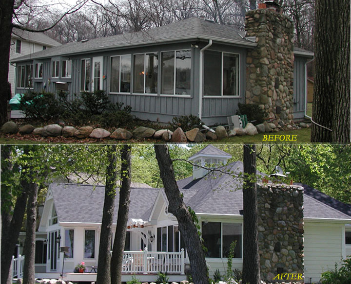 Room addition and remodeling on northern Indiana lake
