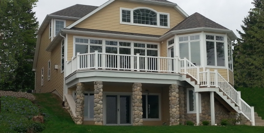 Lake Home construction and design.
