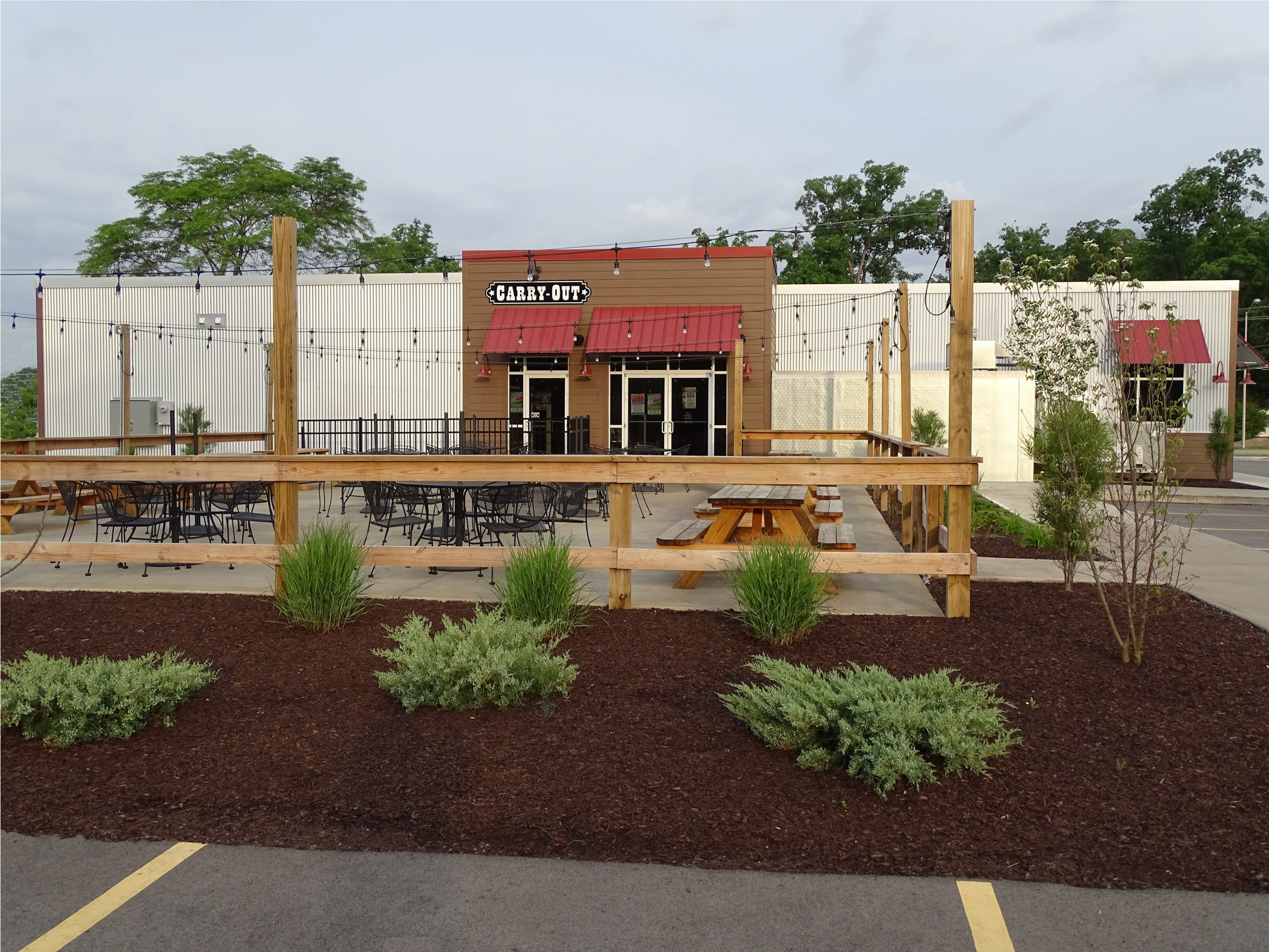 Carry out area of new restaurant in Ft. Wayne