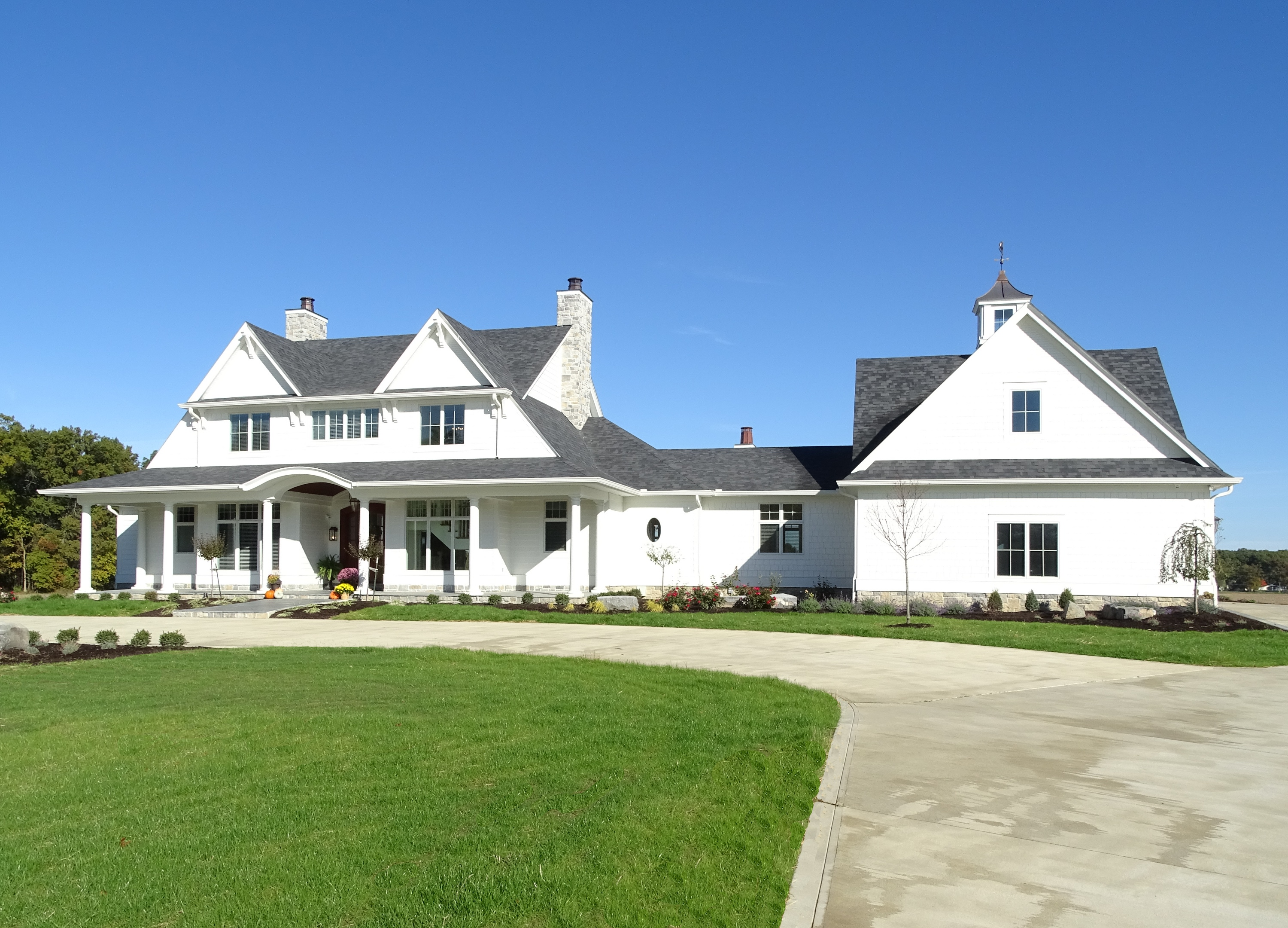Front of new home