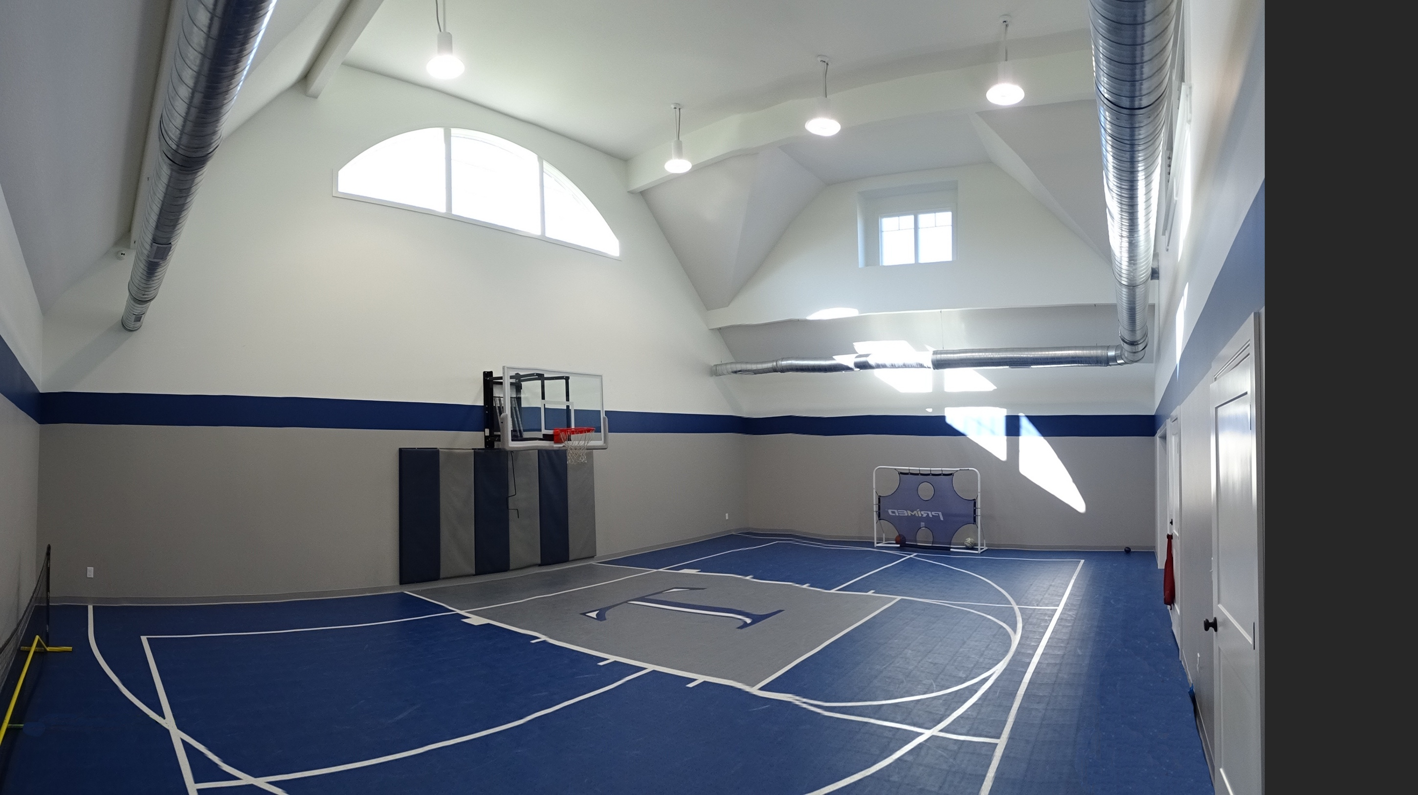 Interior view of basketball court