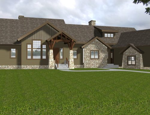 Mountain Style Home Under Construction